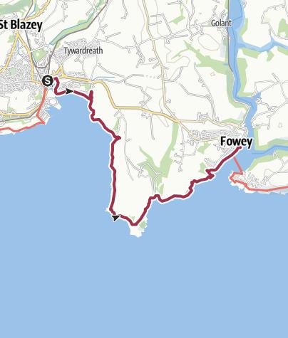 Map / Par to Fowey