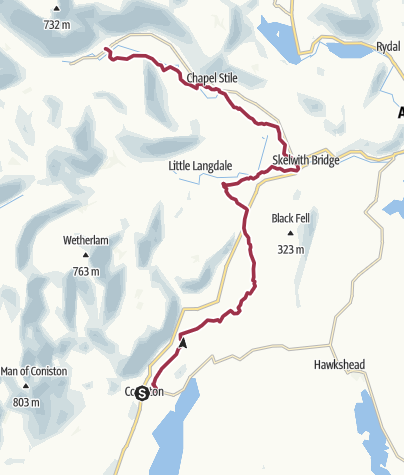 Map / Coniston to Great Langdale