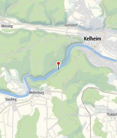 Karte / Weltenburger Enge mit Donaudurchbruch