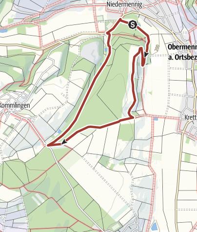 Karte / Ölmühlenwanderweg Konz-Niedermennig