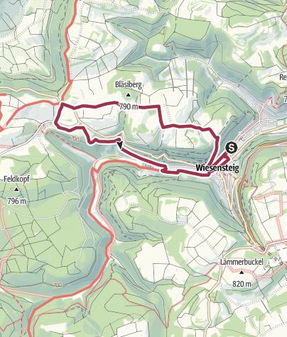 Karte / Familien-Erlebnisrunde Sommerberg