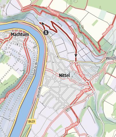 Karte / Weinerlebnispfad Nittel