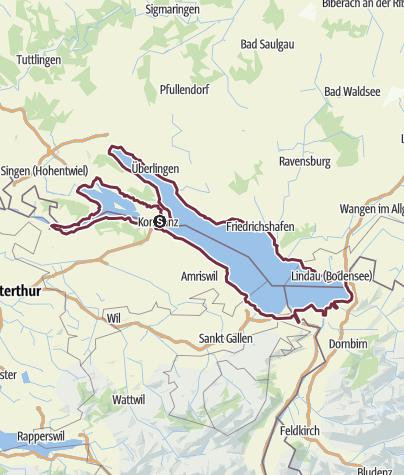 Cartina / Fare trekking sul Lago di Costanza: a piedi intorno al lago
