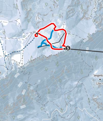 Mapa / Rundweg Gatterlkreuz (Schneeschuhroute 3) ca. 50 min