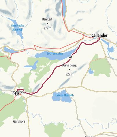 Map / Aberfoyle to Callander