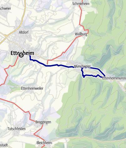 Karte / Mythische Orte am Oberrhein - St. Landelin