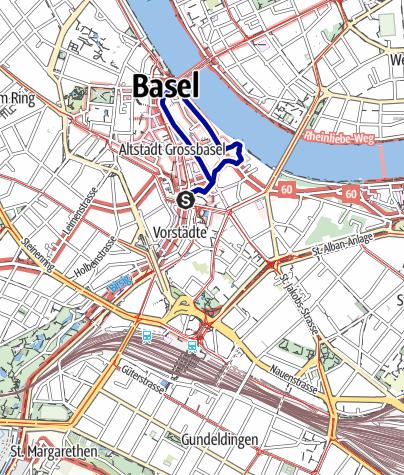 Karte / Mythische Orte am Oberrhein - Münsterkrypta