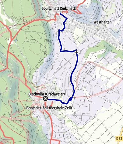 Karte / Mythische Orte am Oberrhein - Bollenberg