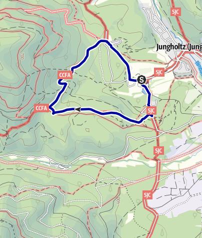 Karte / Mythische Orte am Oberrhein - Basilipue Notre Dame