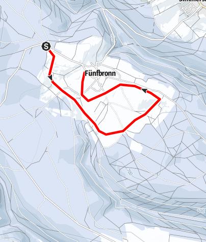 Karte / Rundloipe Fünfbronn