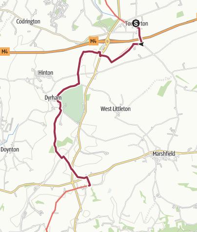 Map / Tormarton to Cold Ashton