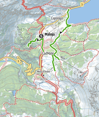 Map / Segantini trail