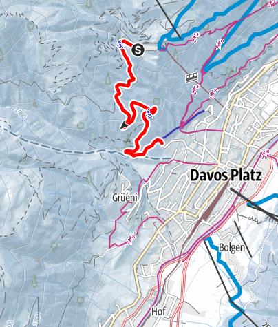 Map / Schatzalp-Schlittelbahn