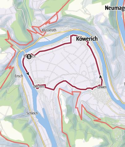 Karte / Wanderrundweg Thörnich - Detzem - Leiwen - Köwerich - Thörnich (R17)