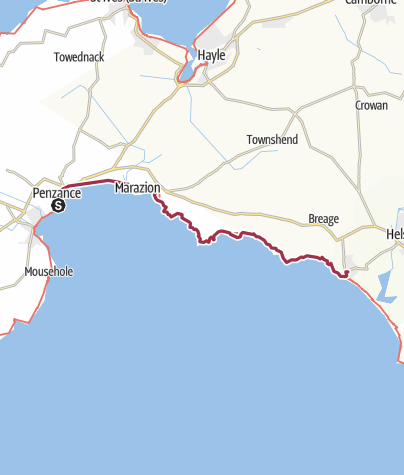 Map / Penzance to Porthleven
