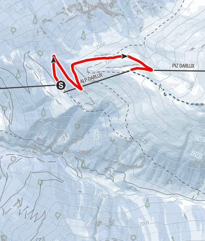 Karte / Winterwanderweg Bergrestaurant La Diala - Snow Hill