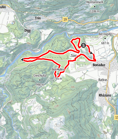 Map / rhiienergie Trail Bonaduz