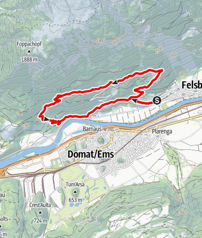 Map / rhiienergie Trail Felsberg