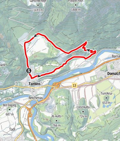 Map / rhiienergie Trail Tamins