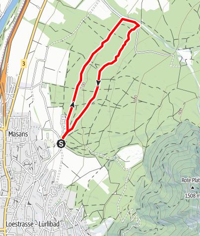 Map / Helsana Trail Chur: Short Trail