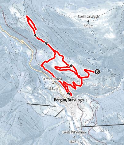 Karte / 217 Bergün Sonnenweg