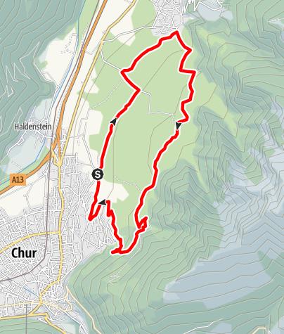 Map / Helsana Trail Chur: Grosser Trail
