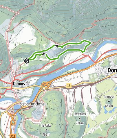Karte / Naturlehrpfad Eichwald Tamins