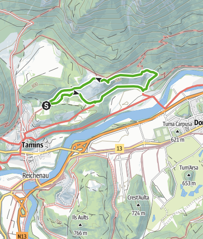 Kaart / Naturlehrpfad Eichwald Tamins