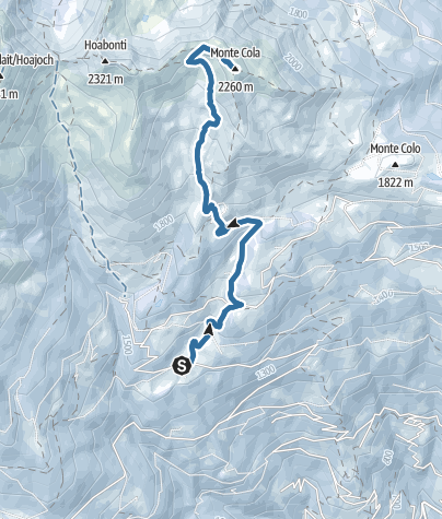 Cartina / Ciaspolata al Monte Cola