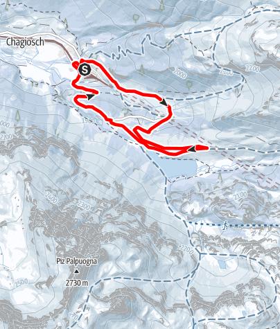 Map / 528 Palpuogna Snowshoe Trail