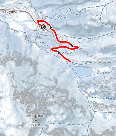 Karte / Preda - Palpuogna See