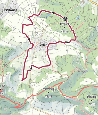 Karte / Gairen-Seeholzrunde