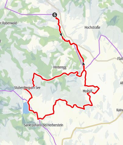 Karte / GenussCard Tour Naturpark Pöllauer Tal - ApfelLand-Stubenbergsee