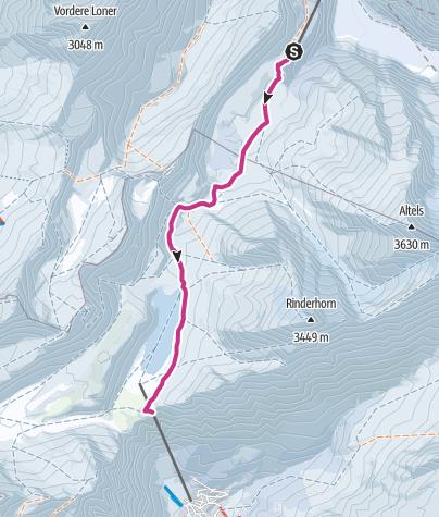 Map / Von Kandersteg über die Gemmi nach Leukerbad
