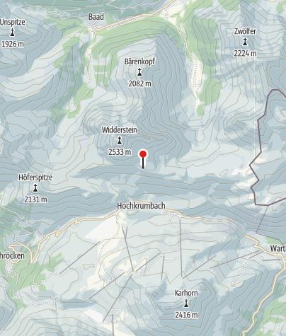 Mapa / Widdersteinhütte.