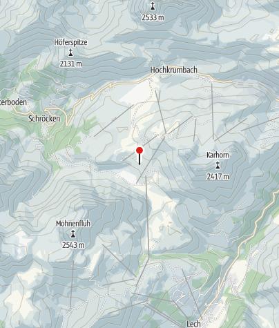 Karte / Berggasthaus Auenfelder Hütte.
