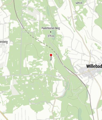 Karte / Willebadessener Hütte (Rettungspunkt 16)