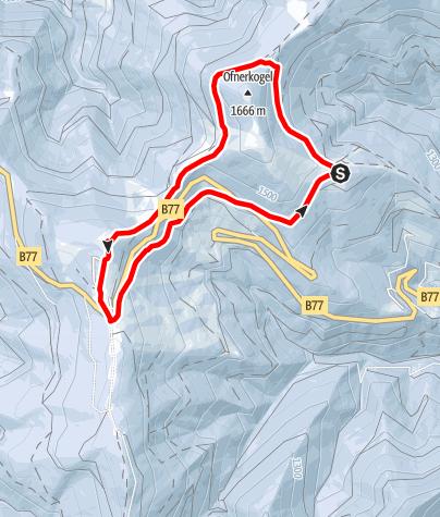 Karte / Unberührte Gaberl-Runde
