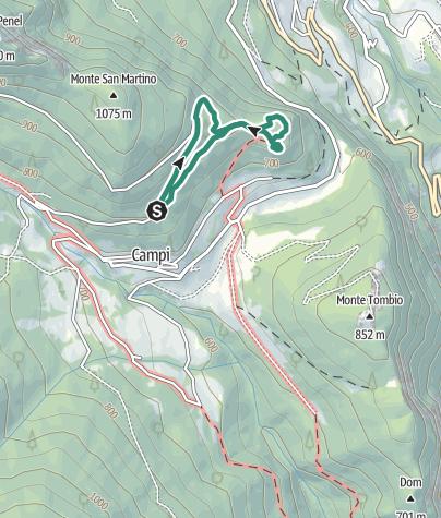 Karte / Verborgene Schätze: Der Kastanienpfad