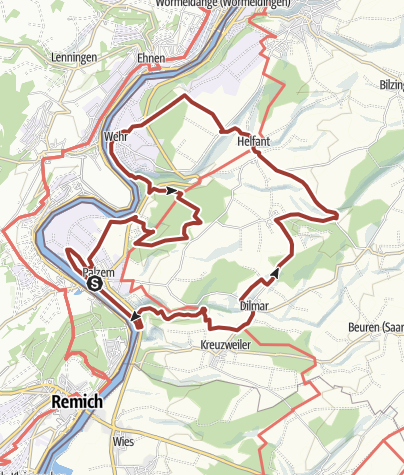 Karte / Via Caliga - röm. Wanderweg Palzem