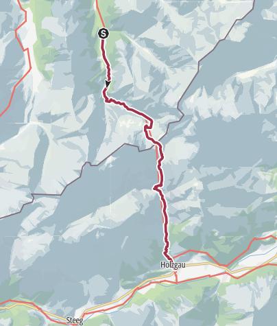 Map / Über die Kemptner Hütten ins Lechtal