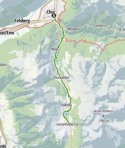 Map / 64.01 Chur - Lenzerheide, ViaSett