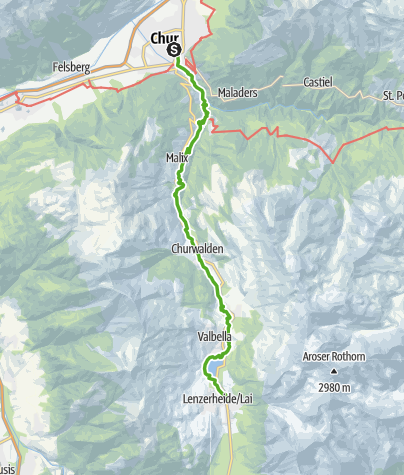 Kaart / 64.01 Chur - Lenzerheide, ViaSett