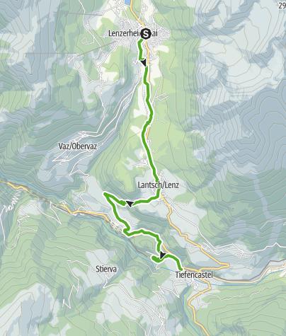 Map / 64.02 Lenzerheide - Tiefencastel, ViaSett