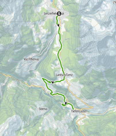 Karte / 64.02 Lenzerheide - Tiefencastel, ViaSett