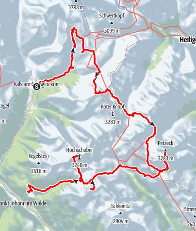 Kaart / Hochschoberronde