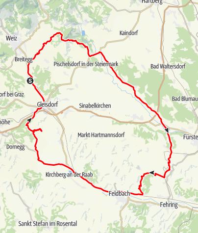 Karte / Genussmobil - Gartentour, Garten-Hotel Ochensberger