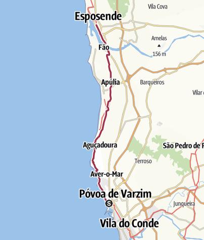 Map / Povoa do Varzim to Esposende