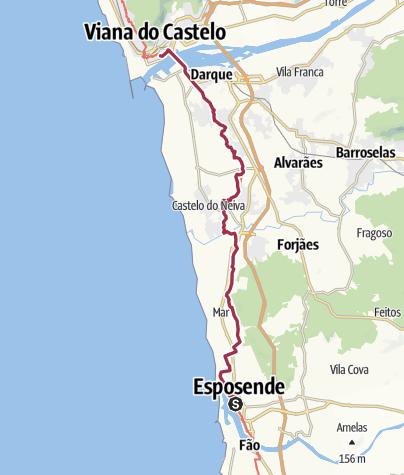 Map / Esposende to Viana do Castelo