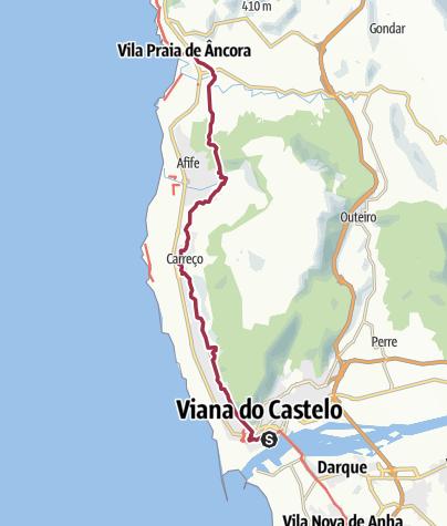 Map / Viana do Castelo to Praia da Ancora